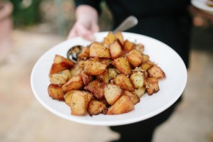 potatoes roasted in duck fat with garlic and rosemary