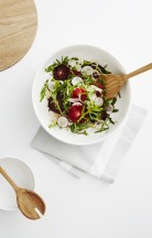 country road: live with us. shaved fennel, blood orange and radish salad with microherbs
