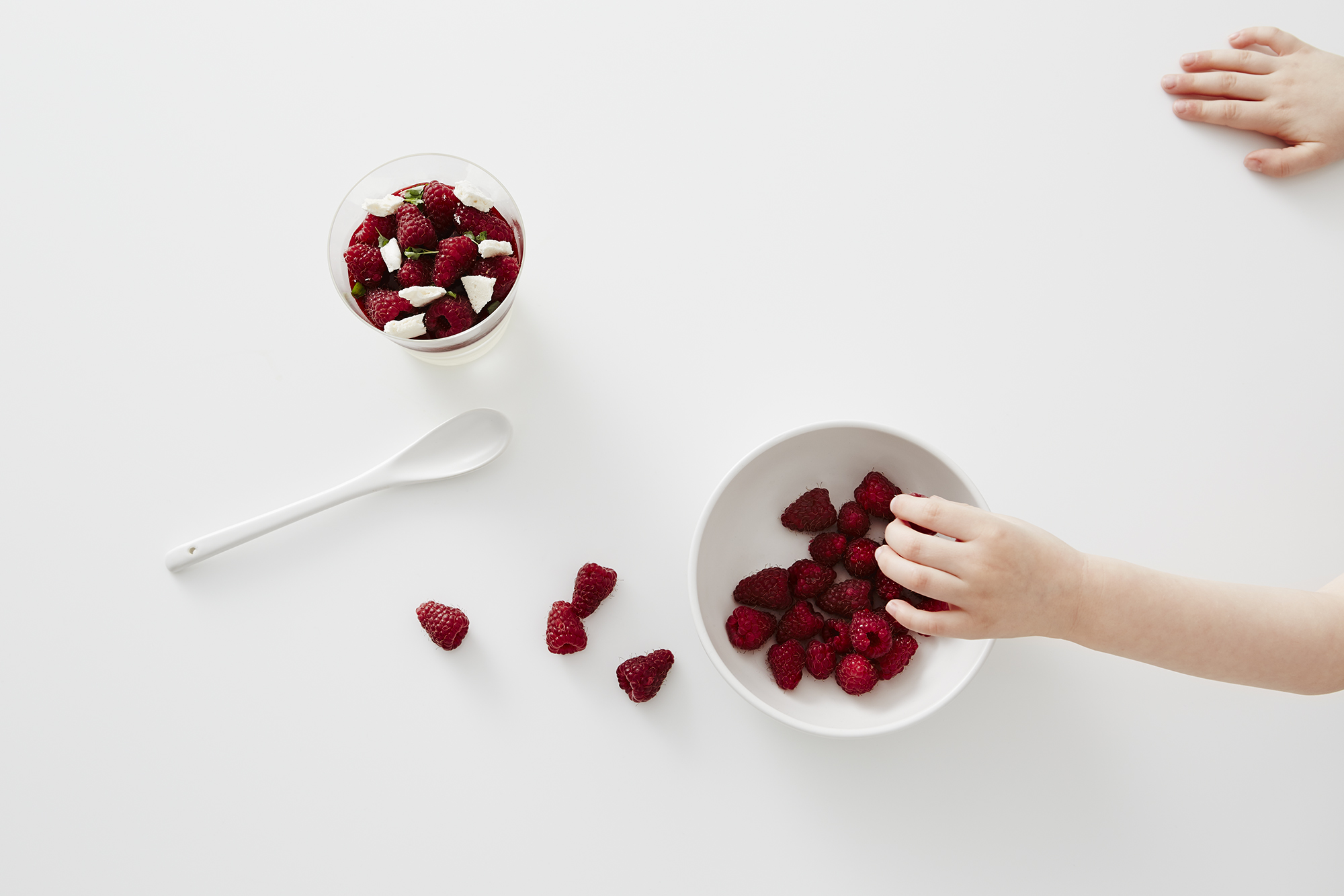 country road: live with us. buttermilk panna cottas with raspberry jelly and meringue shards