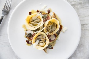 duck tortellini, grilled figs, brown sage butter, shaved reggiano, vincotto drizzle