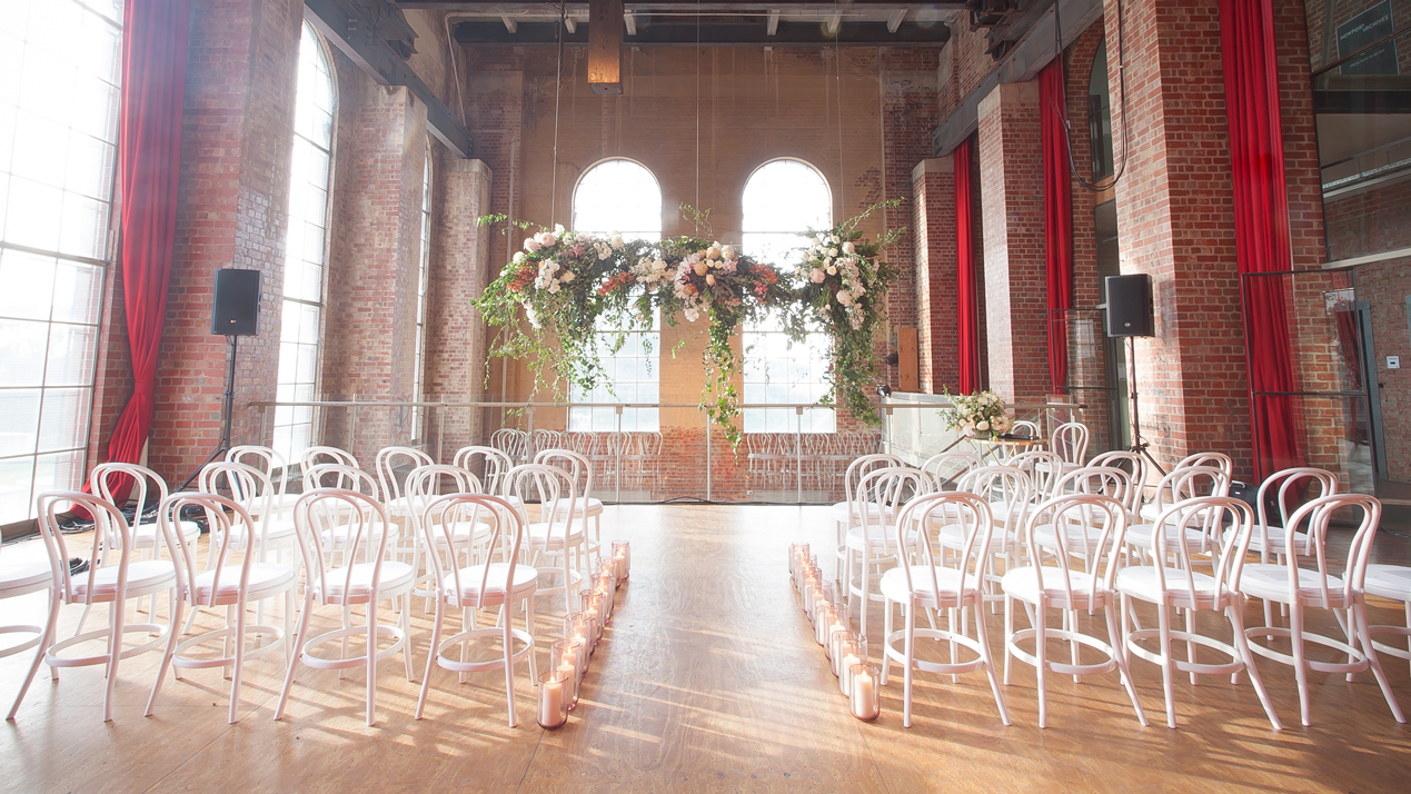Newport Substation Ceremony. Styling by Mark Makers