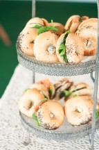 smoked salmon, cucumber & horseradish cream mini bagel