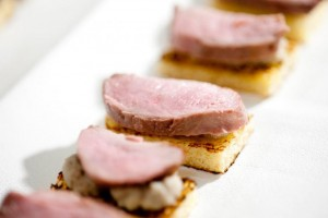 grilled duck breast truffles oyster mushroom pate