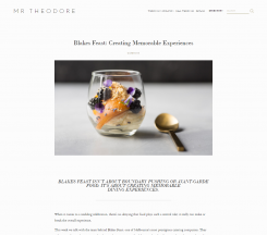 Mr Theodore – Blakes Feast: Creating Memorable Experiences
