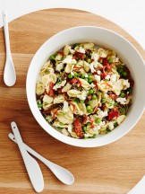 country road: live with us. orecchiette salad