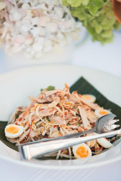 masterstock poached chicken and coconut salad