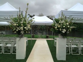 taxodium lawn ceremony. styling by wedding-zone. floral by brett currell